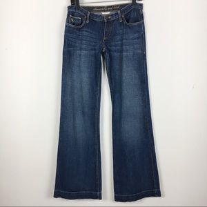 Abercrombie & Fitch Low Rise Wide Leg Flare Jeans